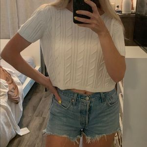 Cable Knit T Shirt